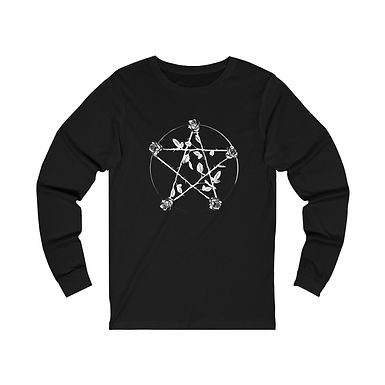 Rose Pentagram Long Sleeve Tee