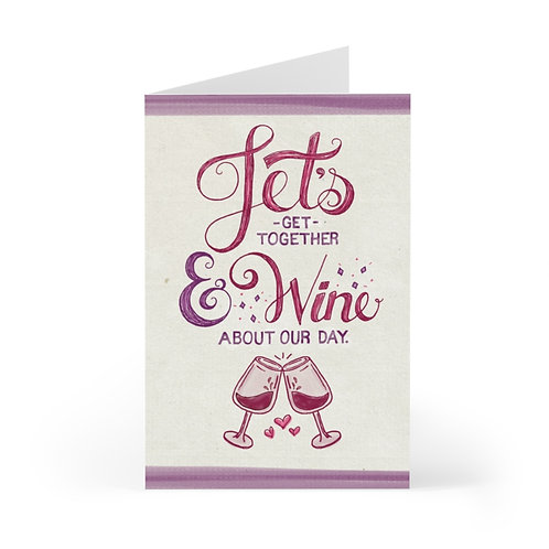 Let's Wine Greeting Card Pack