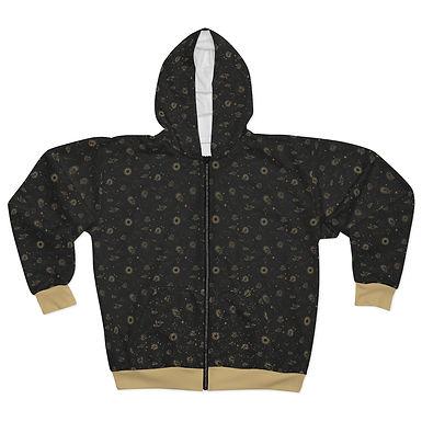 Golden Space Zipper Hoodie