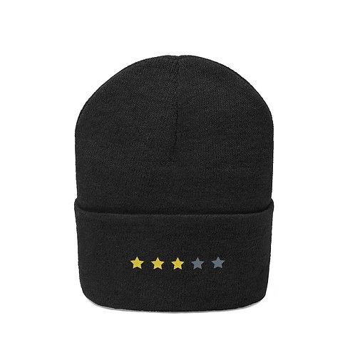 3/5 Stars Embroidered Beanie
