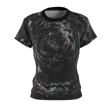Circle Glitch Fitted Tee