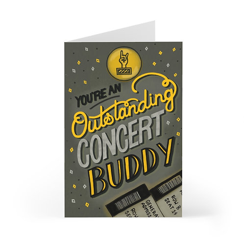 Concert Buddy Greeting Card Pack