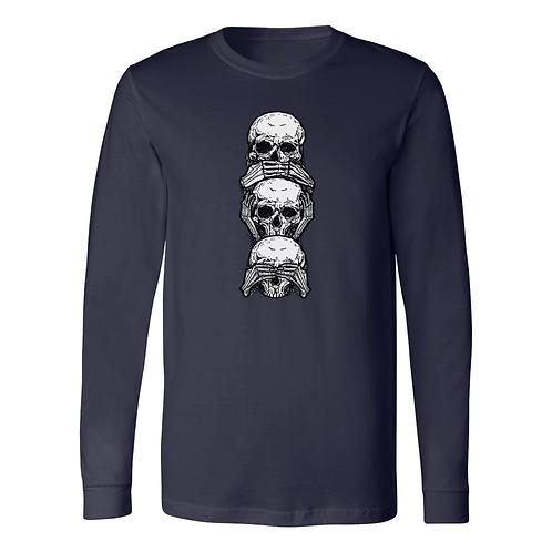 Three Wise Skulls Long Sleeve Tee