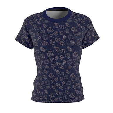 Zodiac Pattern Fitted Tee
