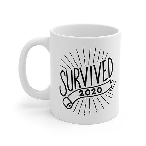 I Survived 2020 White Mug