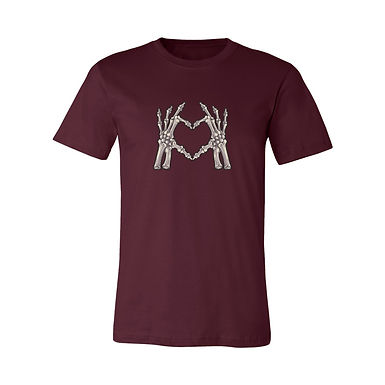 Skeleton Heart Red Graphic Tee