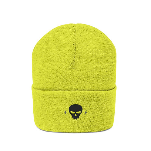 Electric Skull Embroidered Beanie