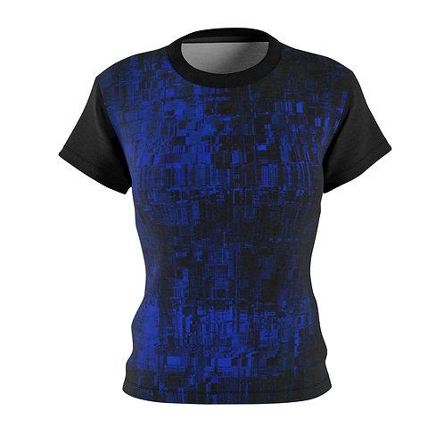 Blue Cyberpunk Fitted Tee