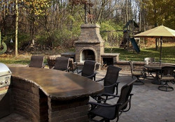 Outdoor Kitchens & Unilock Fireplace