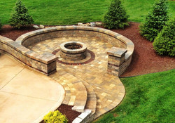 Backyard Paver Brick Gas Fire Pit