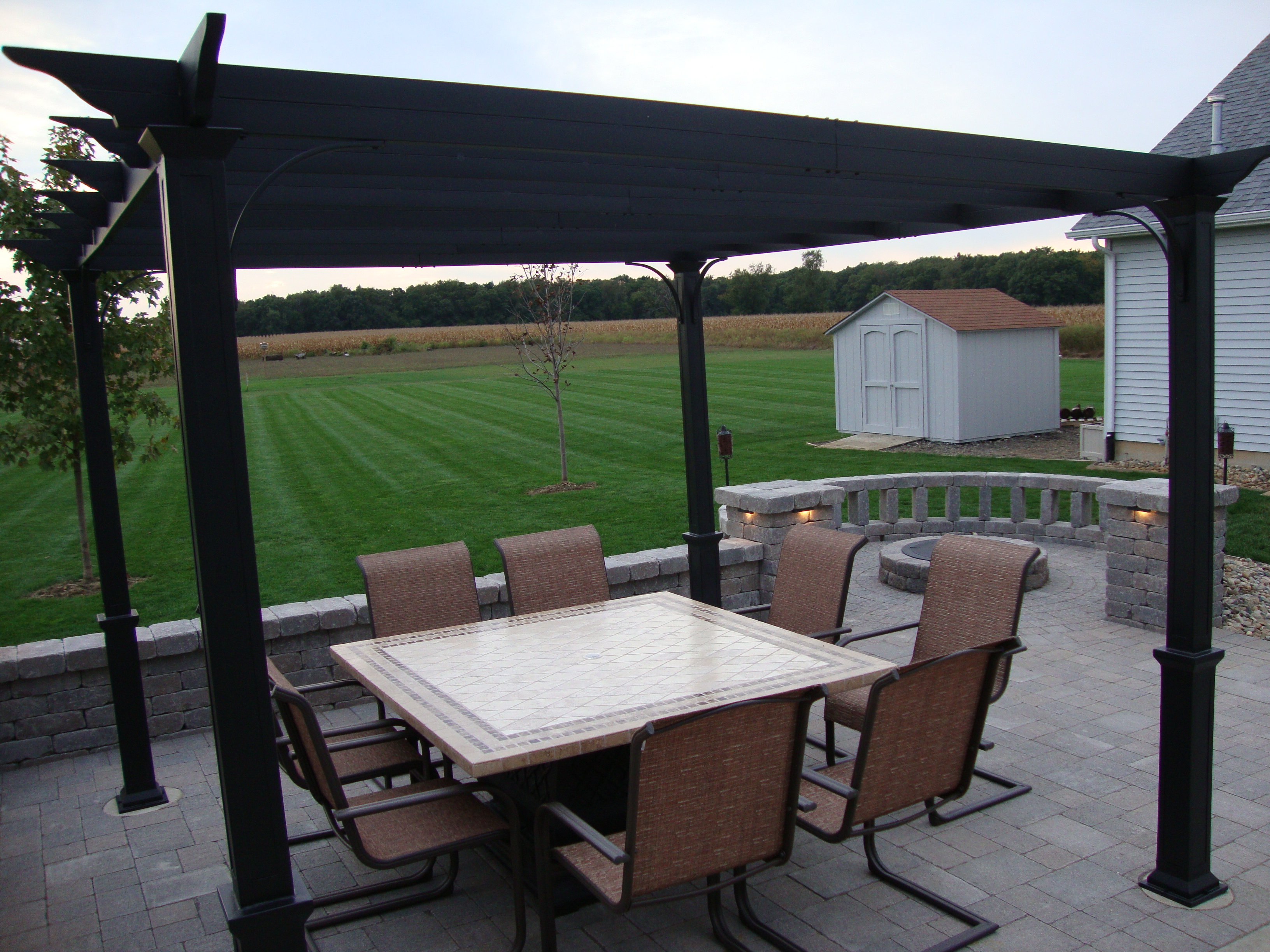 Paver Brick Patio- Dining & Fire Pit