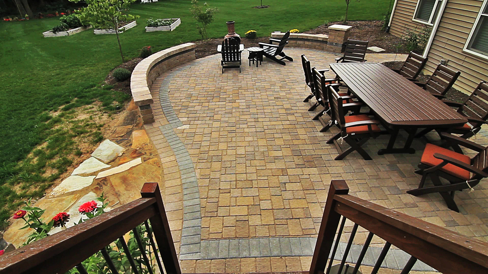Paver Brick Patio- Backyard