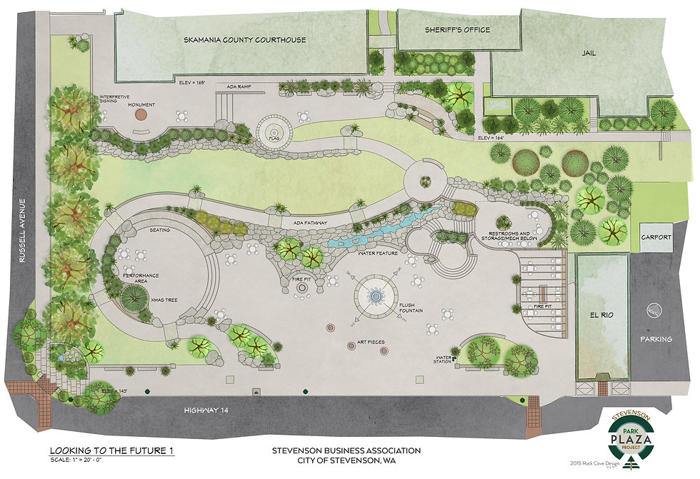 Park Plaza by Rock Cove Design