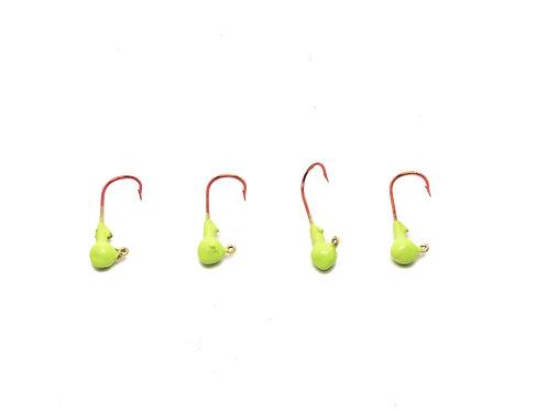 ROUND JIG HEADS (GREEN GLOW)