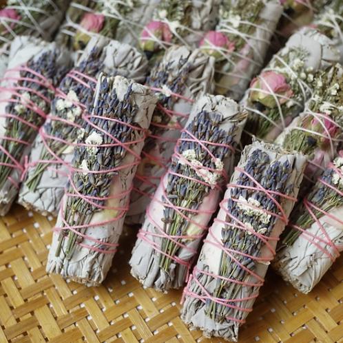 Lavender Calming California Sage Smudge Stick