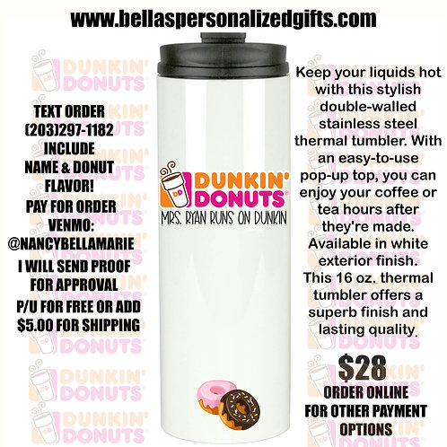 16 Ounce Double Walled Thermal Tumbler
