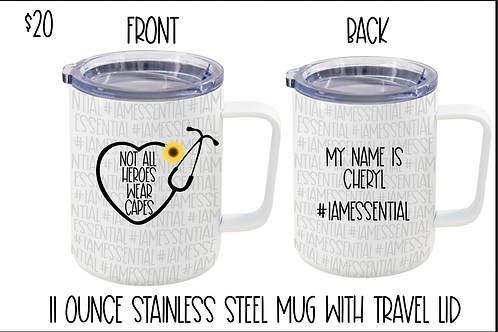 Metal Travel Mug Not All Heroes Wear Capes