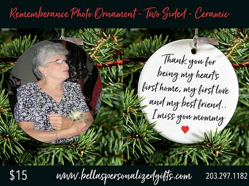 Remembrance Photo Ornament