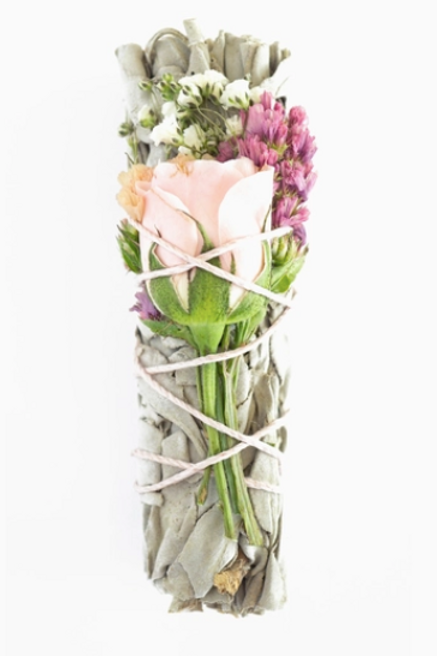 Wildflower Love Rose Sage Smudge Stick