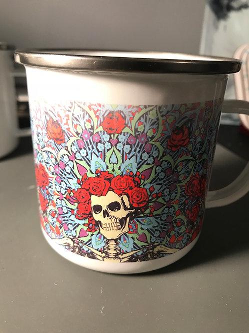 11 ounce Enamel Campers Mug w/ Silver Rim