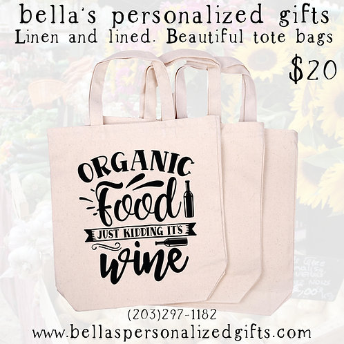 """Organic Wine"" Tote"