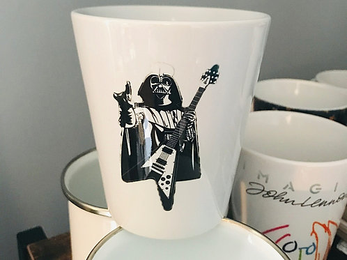 Rock On Darth 12 ounce Ceramic Latte Mug
