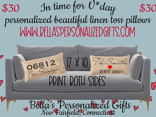 Oblong Quality Canvas Toss Pillows Cases
