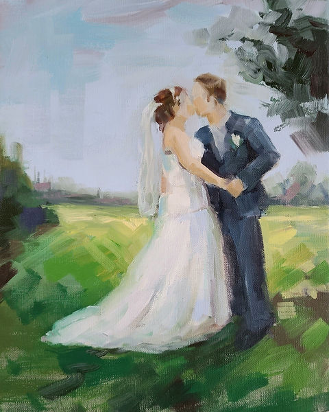painting-of-bride-and-groom-custom-made