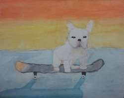 watercolor-dog-by-teen-artist-in-charlotte