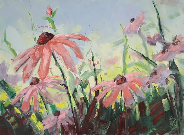 painting-of-coneflowers