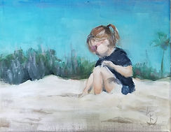 painting-of-child-to-capture-a-special-memory-for-mom