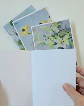 floral artist made greeting cards