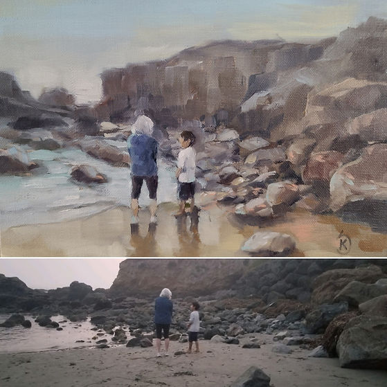 unique gift for grandma, gift for grandparent who has everything, painting for grandma