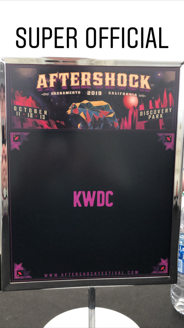 KWDC at Aftershock Festival