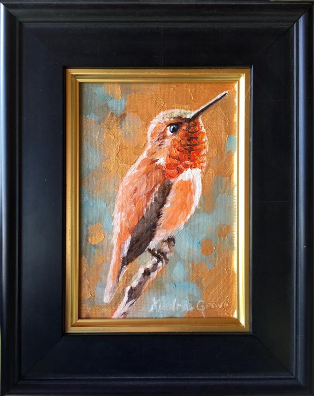 Golden Creatures: Rufous Hummingbird (SOLD)