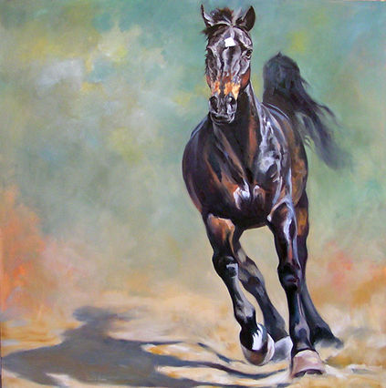 Horse painting commission by Kindrie Grove