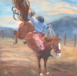 """Ride of my life / 48"""" x 48"""" / Oil on Canvas / $"""