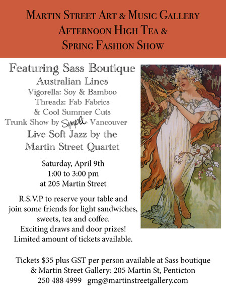 Afternoon High Tea Fashion Show Featuring Sass Boutique