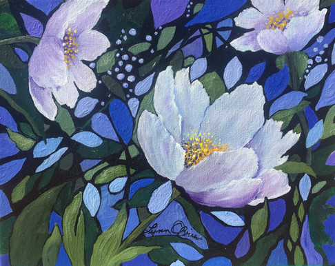 Through the garden softly-Floral 1 / SOLD