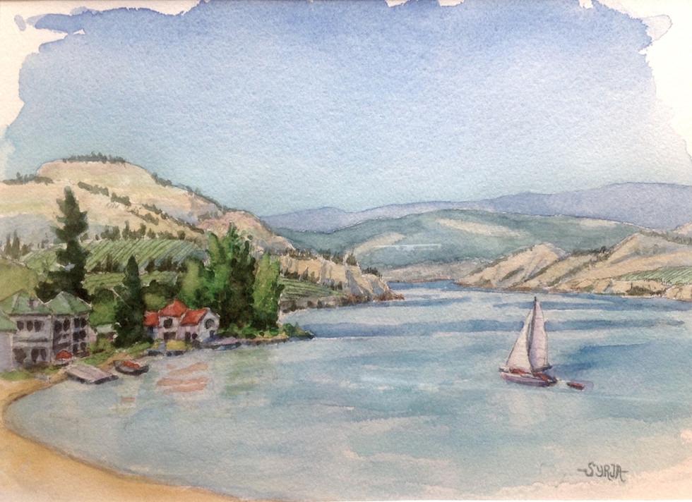 """Powell Beach / Watercolour / 8"""" x 11"""" / $195"""