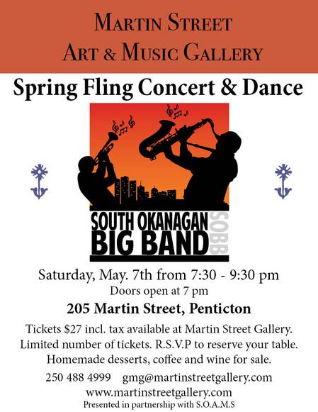 South Okanagan Big Band Spring Fling Concert and Dance