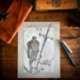 November's Stone Guardians Sketchbook pa