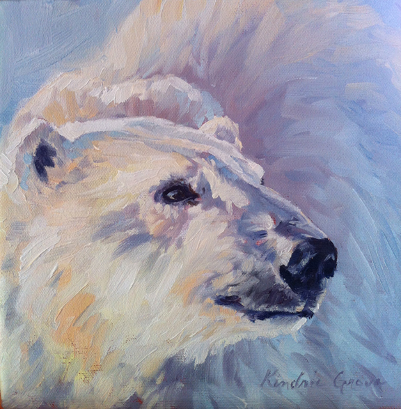Last Light Polar Bear Study (SOLD)