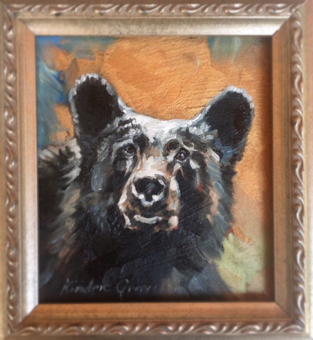 Golden Creatures: Young Black Bear IV (SOLD)