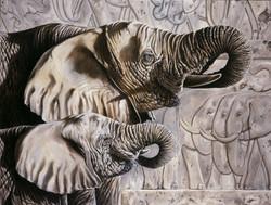 Ancient Tableau, Elephants