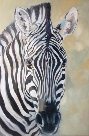 Zebra Face (SOLD)