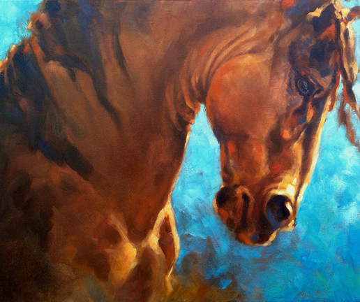 "Memory Horse / Oil on Canvas / 18"" x 24"" / $2,800"