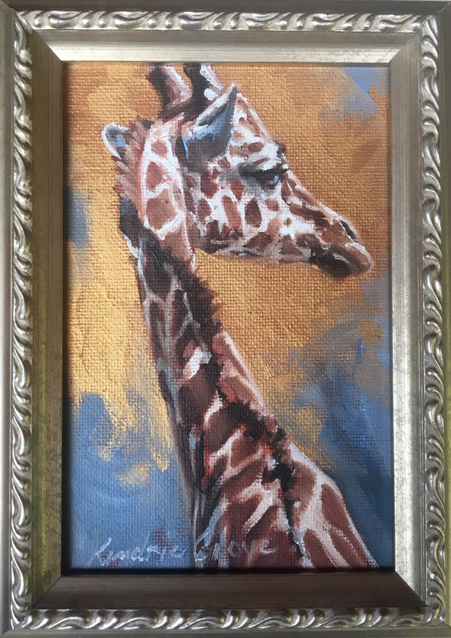 Golden Creatures: Reticulated Giraffe (SOLD)