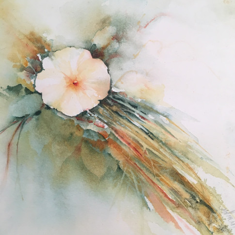 "Autum's Gifts #1 / Watercolour / 8"" x 8"" / $125"