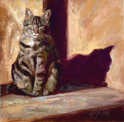 """Sun Worship / 17"""" x 17"""" / Oil on Canvas / $1400"""